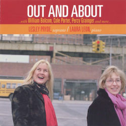 cover of Out and About...with William Bolcom, Cole Porter, Percy Grainger and more...